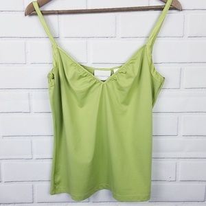 Liz Claiborne Green Camisole Tank Top Large